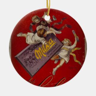 リボンを持つSuchard Chocolatの子供 セラミックオーナメント