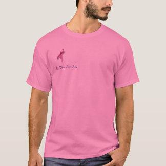 リボン、実質のメンズウェアのピンク Tシャツ