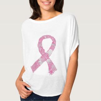 リボン-部分的なピンク Tシャツ