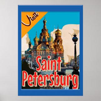 リマスターされる訪問のセント・ピーターズバーグのヴィンテージポスター ポスター