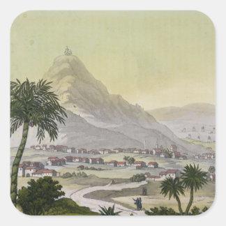 リマ、「Le Cosからのペルーの町区の概観、 スクエアシール