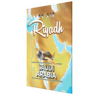 リヤドサウジアラビアのヴィンテージ旅行ポスター キャンバスプリント
