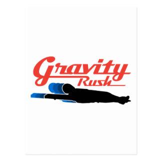 リュージュの重力の突進 ポストカード