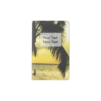 リラックスさせるでロマンチックなビーチScence ポケットMoleskineノートブック