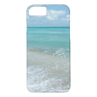 リラックスさせるで青いビーチの海の景色の自然場面 iPhone 8/7ケース