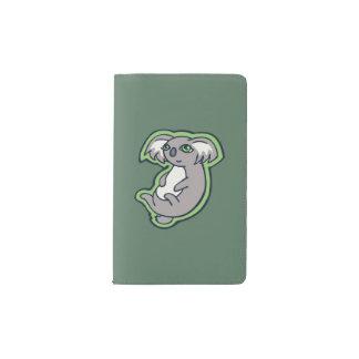 リラックスさせるなスマイルの灰色のコアラの緑のスケッチのデザイン ポケットMoleskineノートブック