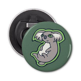 リラックスさせるなスマイルの灰色のコアラの緑のスケッチのデザイン 栓抜き