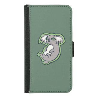 リラックスさせるなスマイルの灰色のコアラの緑のスケッチのデザイン GALAXY S5 ウォレットケース