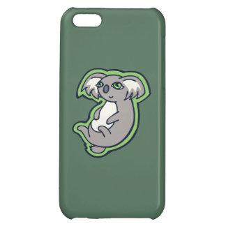 リラックスさせるなスマイルの灰色のコアラの緑のスケッチのデザイン iPhone 5C カバー