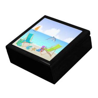 リラックスさせるなビーチのギフト用の箱か装身具箱 ギフトボックス