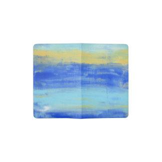 リラックスさせるなビーチの青いTurquioseの都市芸術 ポケットMoleskineノートブック