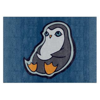 リラックスさせるなペンギンの甘く大きい目インクスケッチのデザイン カッティングボード