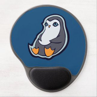 リラックスさせるなペンギンの甘く大きい目インクスケッチのデザイン ジェルマウスパッド
