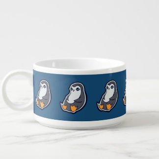 リラックスさせるなペンギンの甘く大きい目インクスケッチのデザイン チリボウル