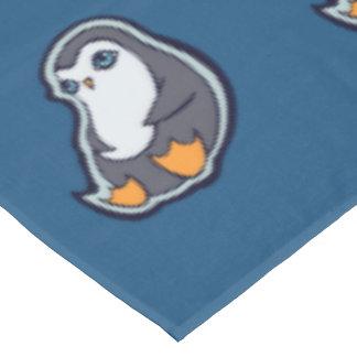 リラックスさせるなペンギンの甘く大きい目インクスケッチのデザイン テーブルクロス