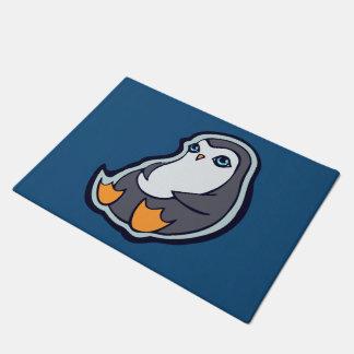 リラックスさせるなペンギンの甘く大きい目インクスケッチのデザイン ドアマット