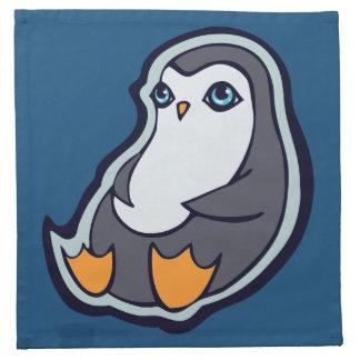 リラックスさせるなペンギンの甘く大きい目インクスケッチのデザイン ナプキンクロス