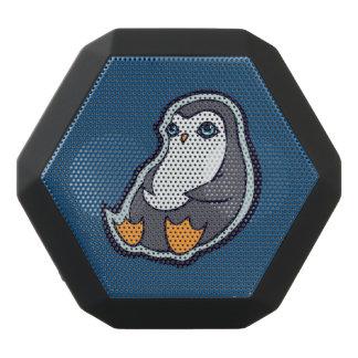 リラックスさせるなペンギンの甘く大きい目インクスケッチのデザイン ブラックBluetoothスピーカー