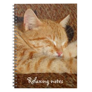 リラックスさせるな猫 ノートブック