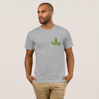 リラックスした男性Cannatopiaの角のロゴのティー Tシャツ