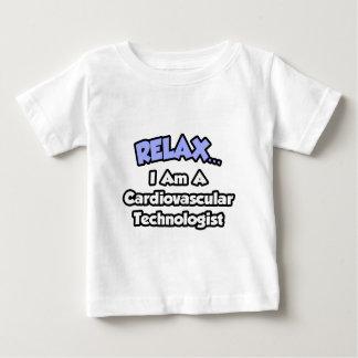 リラックスして下さい。 私は心血管の科学技術者です ベビーTシャツ