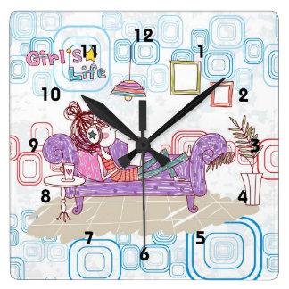 リラックス スクエア壁時計