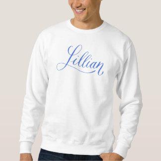 リリアン-モダンな書道の名前のデザイン スウェットシャツ