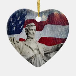 リンカーンおよび花火 セラミックオーナメント