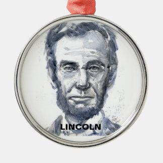 リンカーンの円形のオーナメント シルバーカラー丸型オーナメント