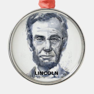 リンカーンの円形のオーナメント メタルオーナメント