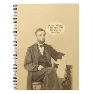 リンカーンの年齢か天使の歴史的な引用文 ノートブック