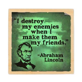 リンカーンの引用文木コースター ウッドコースター
