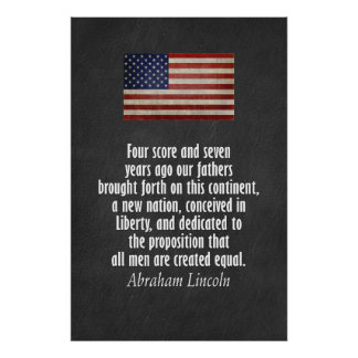 リンカーンの引用文- Gettysburgの住所 ポスター