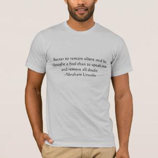 リンカーンの引用文 Tシャツ