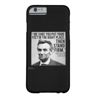 リンカーンは及びiPhone6ケース引用文の主張を貫きます Barely There iPhone 6 ケース