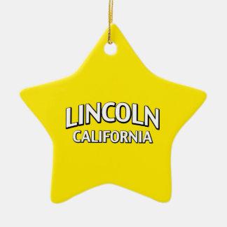 リンカーンカリフォルニア セラミックオーナメント