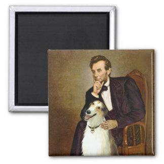 リンカーン及び彼のボルゾイ マグネット
