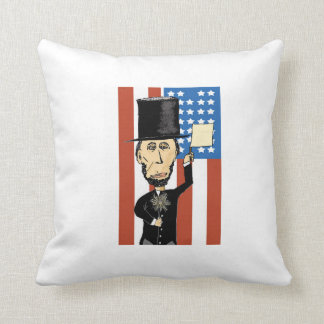リンカーン大統領ポリエステル装飾用クッション クッション