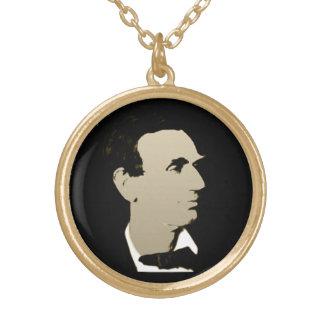 リンカーン大統領 ゴールドプレートネックレス
