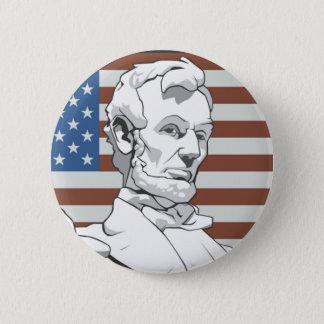 リンカーン大統領 5.7CM 丸型バッジ