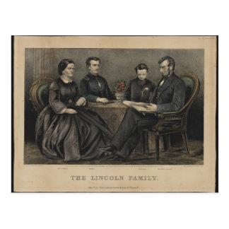 リンカーン家族 ポストカード