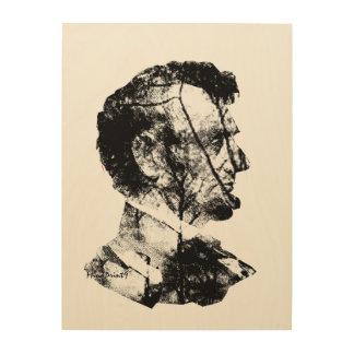 リンカーン彼の幼年期の森林 ウッドウォールアート