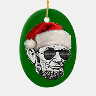 リンカーン秘密のサンタのクリスマスのオーナメント(新しい2012年) セラミックオーナメント