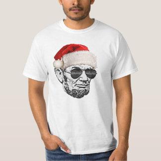 リンカーン秘密のサンタのクリスマスのTシャツの*NEW 2012* Tシャツ