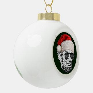 リンカーン秘密のサンタのクリスマスツリーのオーナメント セラミックボールオーナメント