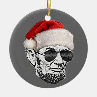 リンカーン秘密のサンタのクリスマスツリーのオーナメント(新しい) セラミックオーナメント