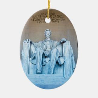 リンカーン記念館の彫刻のWashington D.C. セラミックオーナメント