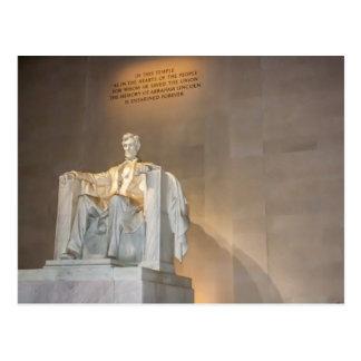 リンカーン記念館の郵便はがき ポストカード