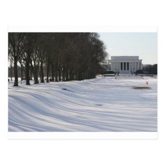 リンカーン記念館の雪 ポストカード