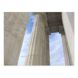 リンカーン記念館を囲む柱 ポストカード